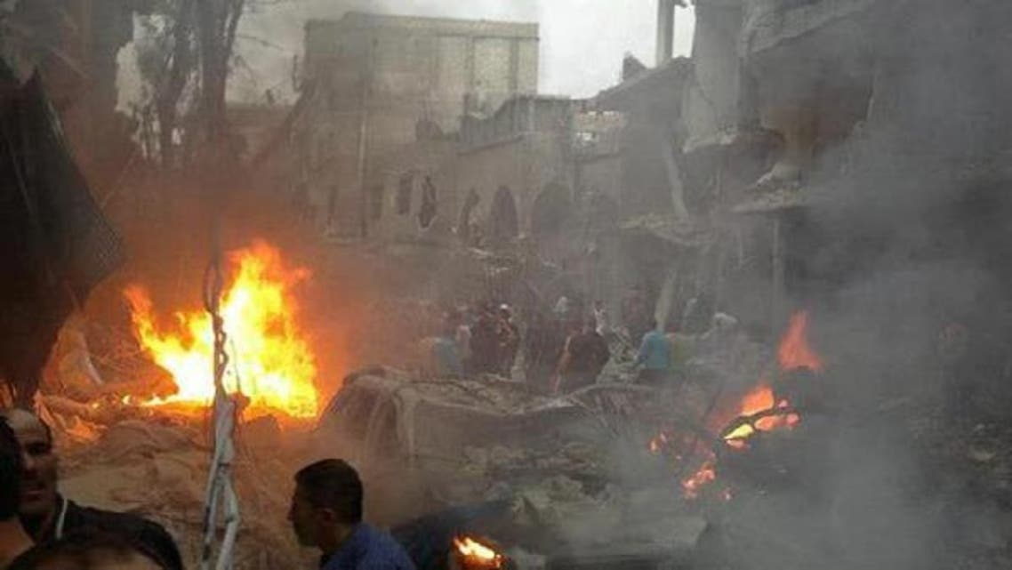 Rebels have made gains on the outskirts of Damascus recently but relied on hit and run attacks and bombs in the center of the city, often on state security buildings or areas loyal to Assad, such as Jaramana, where twin bombs killed 34 people in November. (AFP)