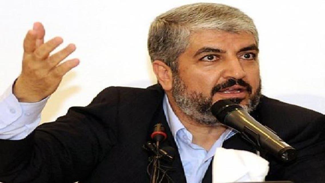 خالد مشعل زعيم حركة المقاومة الإسلامية الفلسطينية حماس