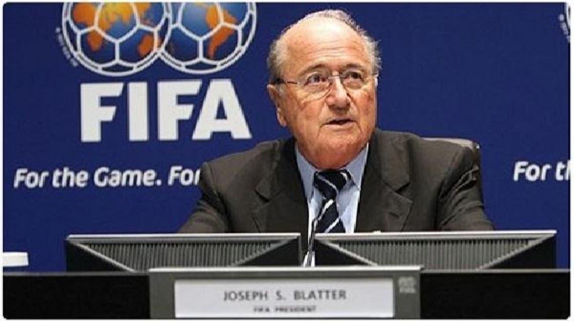 """رئيس \\""""الفيفا\\"""" السويسري جوزيف بلاتر"""