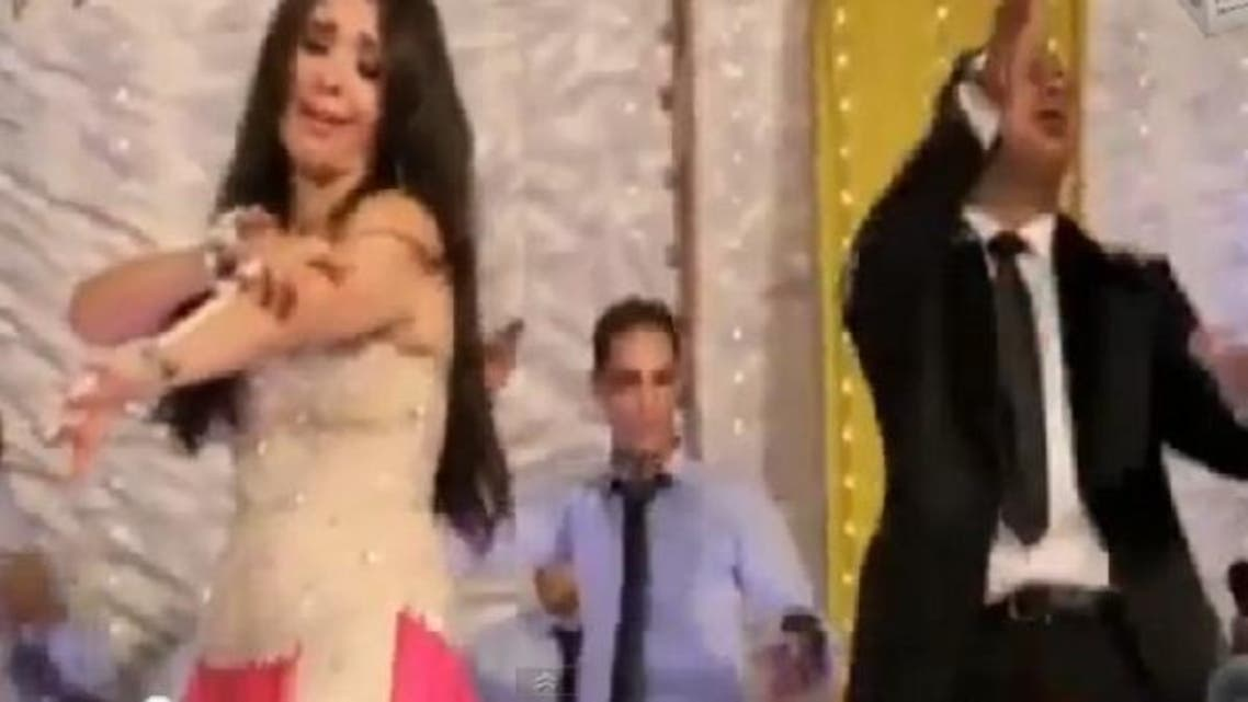 Shiites denounced belly dancer Dina's dancing to a song in an Egyptian film that praises the Prophet's daughter Fatima. (Film clip screenshot: YouTube)
