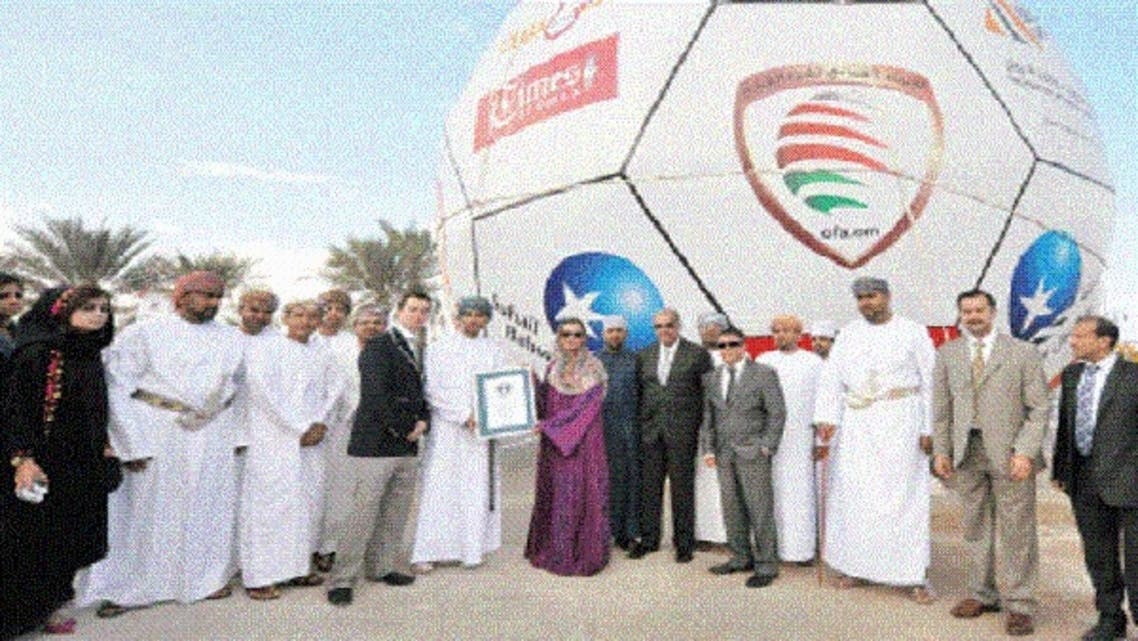 Director of Suhail Bahwan Group, Amal Bahwan received the certificate from the representative of Guinness Book of World Records during the inaugural ceremony. (Coutesy: Times of Oman)