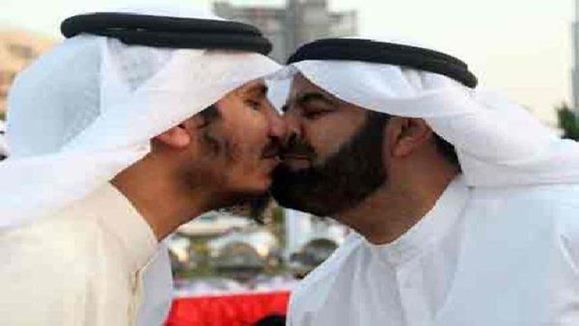 دو سابق کویتی ارکان پارلیمنٹ \'نو کس\' کے ذریعے عید الاضحی کی مبارک کا تبادلہ کر رہے ہیں