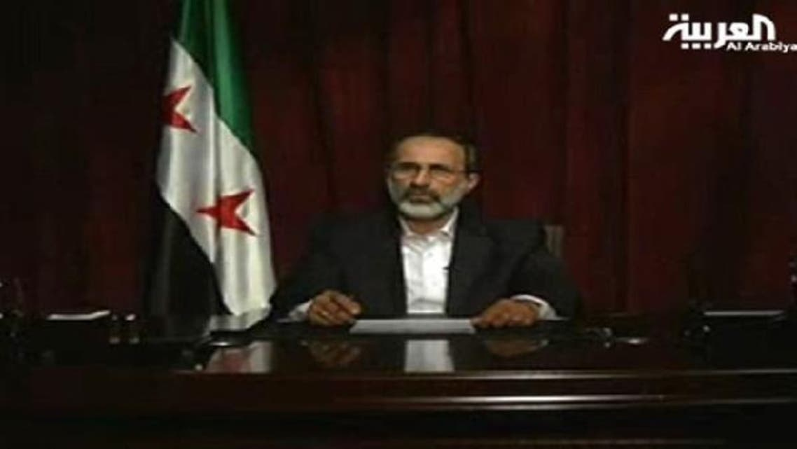 Opposition coalition chief Ahmed Moaz al-Khatib said the Assad\'s regime was causing a Holocaust in the country. (Al Arabiya)