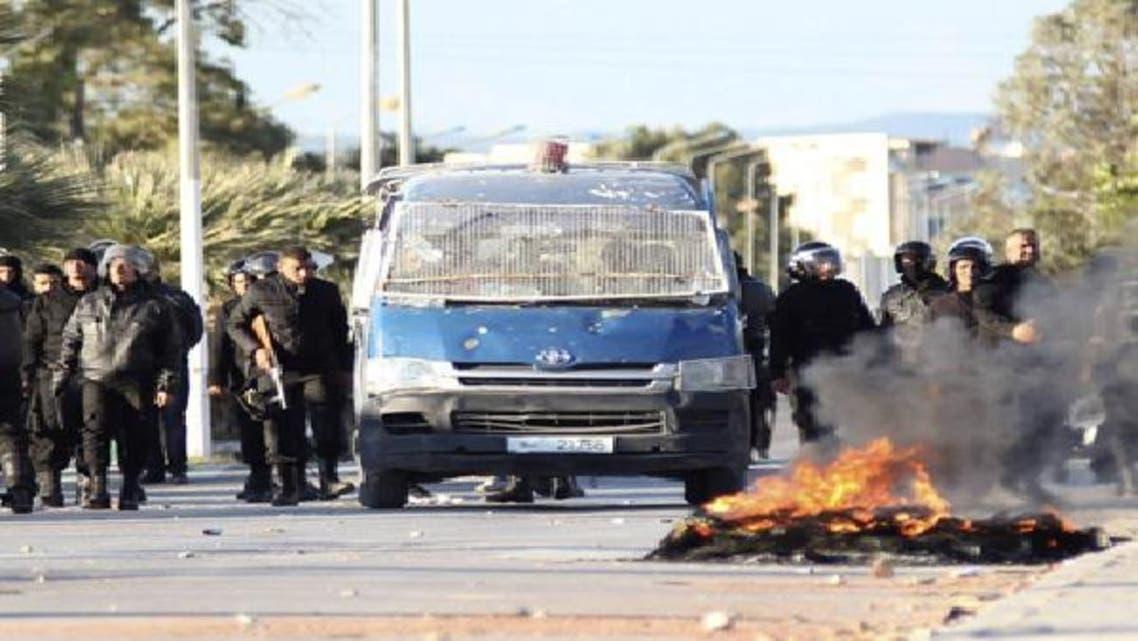 المواجهات في محافظة سليانة غرب تونس