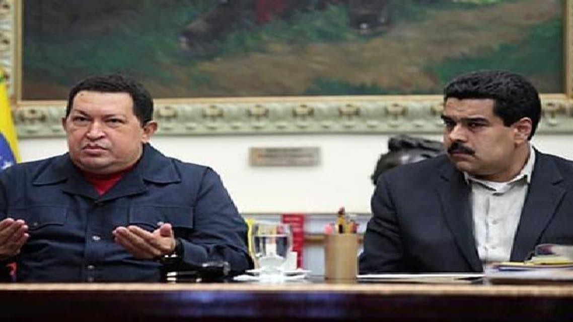 نيكولاس مادورو وییزویلا کے صدر ہوگو شاویز کے ہمراہ