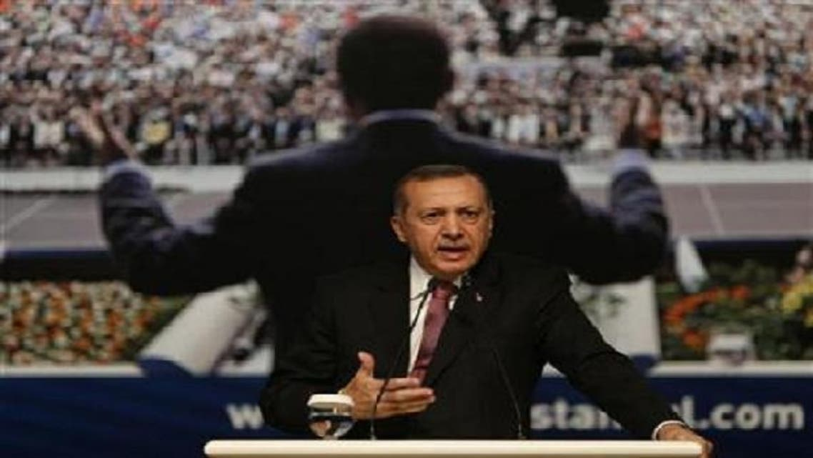Turkey's Prime Minister and leader of Justice and Development Party (AKP) Tayyip Erdogan makes a speech during a party meeting in Istanbul September 22, 2012. (Reuters)