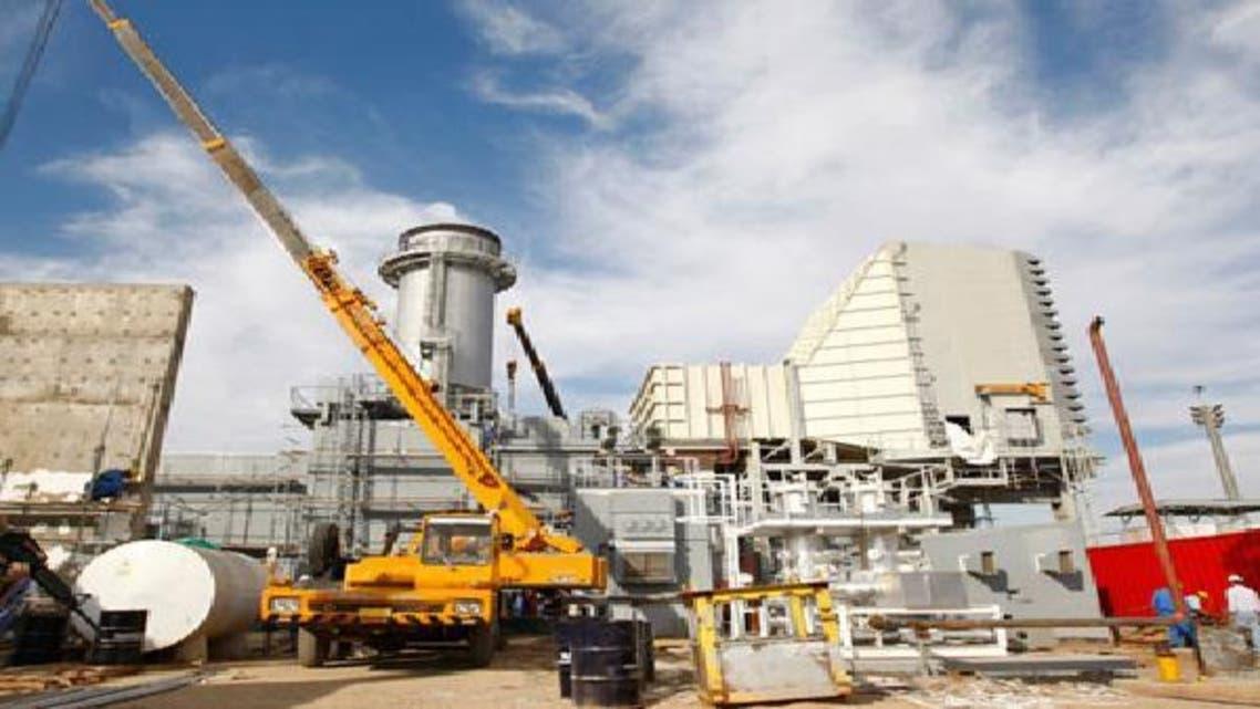 إحدى محطات الكهرباء  التي يتم إنشاؤها في العراق