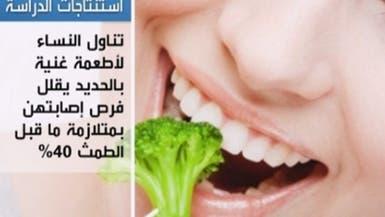 الأطعمة الغنية بعنصر الحديد تخفف من أعراض الطمث