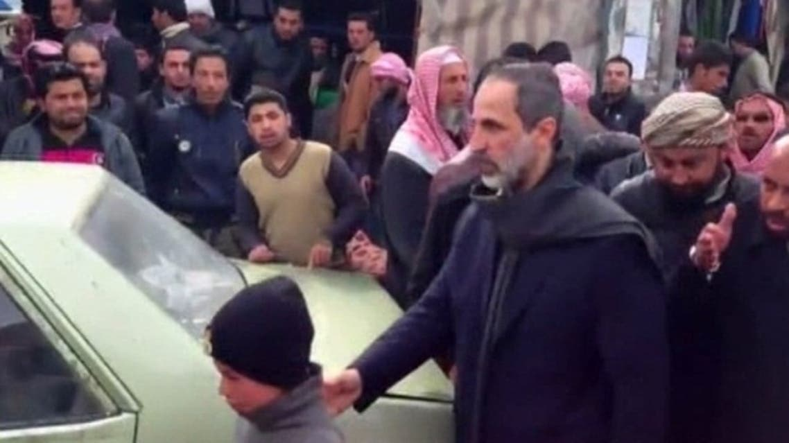 The chief of the Syrian National Coalition, for the first time, visited rebel-held areas near the embattled city of Aleppo in northern Syria. (Al Arabiya)