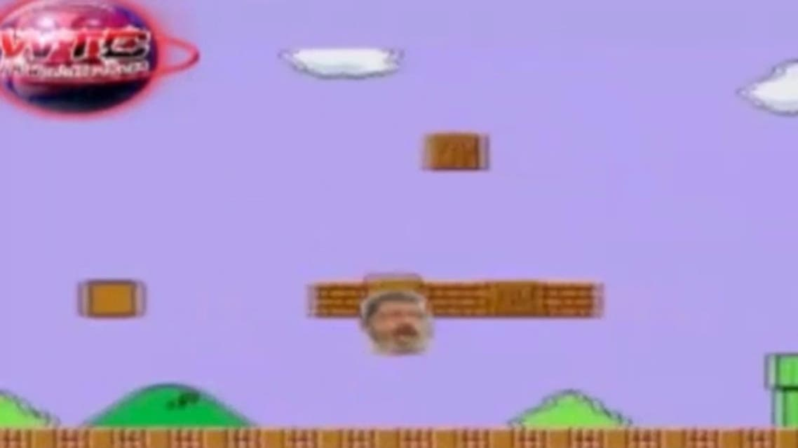 The 'Super Mursi' video - a spoof of the 'Super Mario' video game, with a political twist. (YouTube)