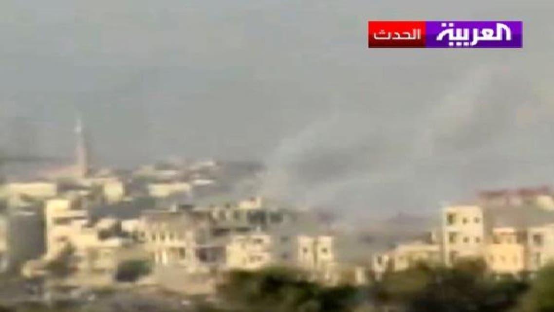 قصف للمروحيات على حي الحجر الأسود في دمشق
