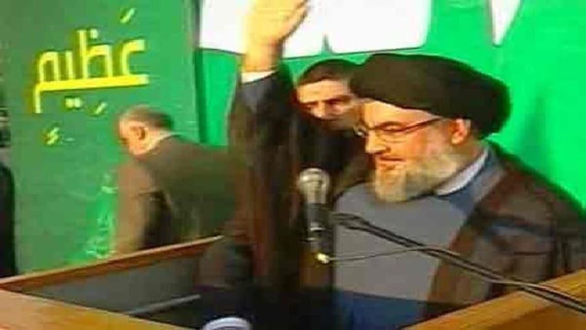 حزب اللہ ملیشیا کے سربراہ شیخ حسن نصراللہ بیروت میں اپنے ہزاروں حامیوں سے خطاب کر رہے ہیں