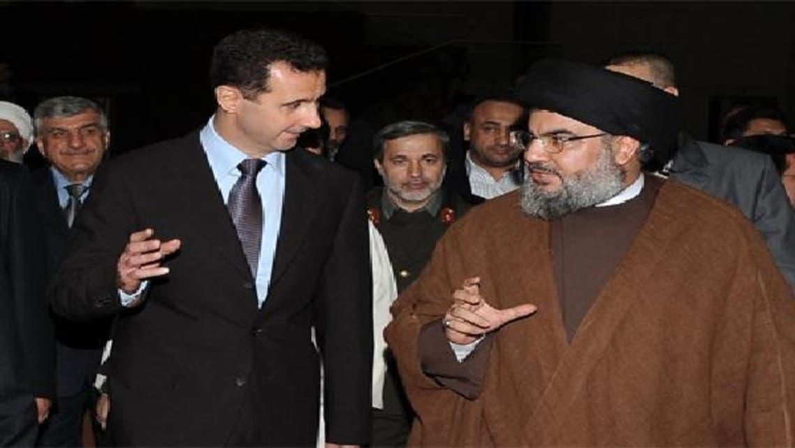 """حسن نصر الله وبشار الأسد \\""""أرشيفية\\"""""""