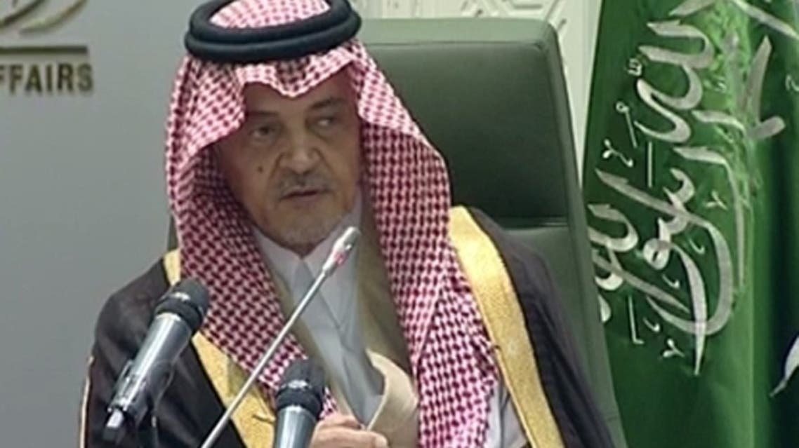 "Saudi's Foreign Minister Saud al-Faisal said: ""The solution in Syria is with the Syrians themselves and what they want."" (Al Arabiya)"