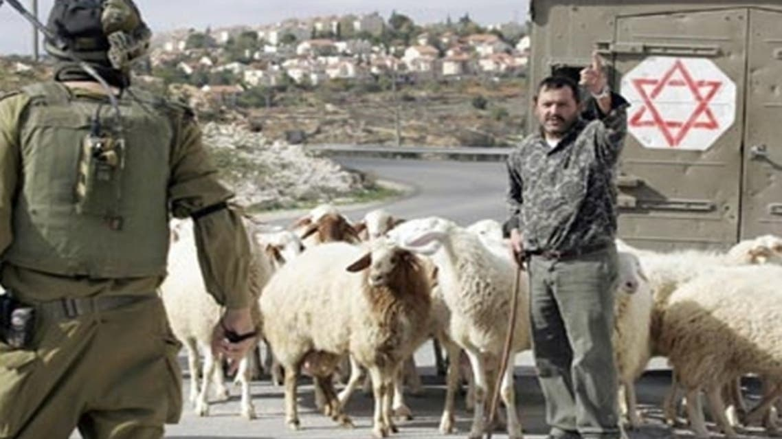 The Israeli army said a Palestinian shepherd entered a closed firing zone with the aim of stealing ammunition. (AFP)