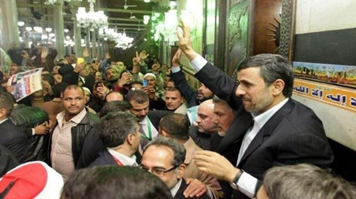 Iranian President Mahmoud Ahmadinejad visits Raas al-Hossein in Cairo. (Photo courtesy of Alalam.ir)