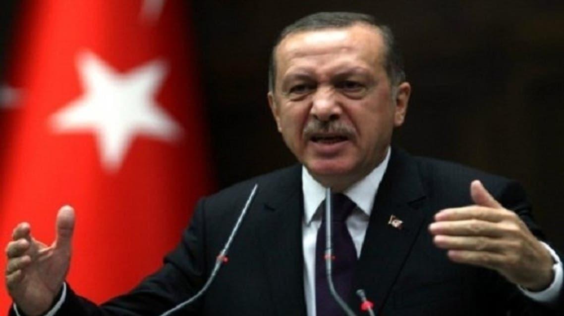 Turkey's Prime Minister Tayyip Erdogan addresses members of parliament in Ankara on February 26, 2013. (AFP)