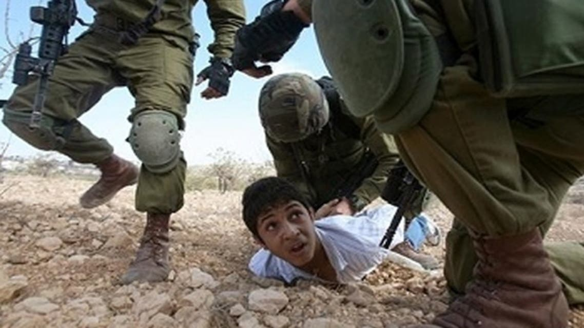 Over the past decade, Israeli forces have arrested, interrogated and prosecuted around 7,000 Palestinian children aged between 12 and 17, most of them boys: UNICEF. (AFP)