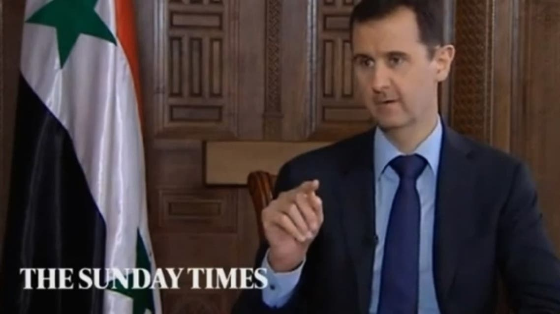 Did The Sunday Times provide Syrian President Bashar al-Assad with the questions prior to the interview? (Courtesy Youtube)
