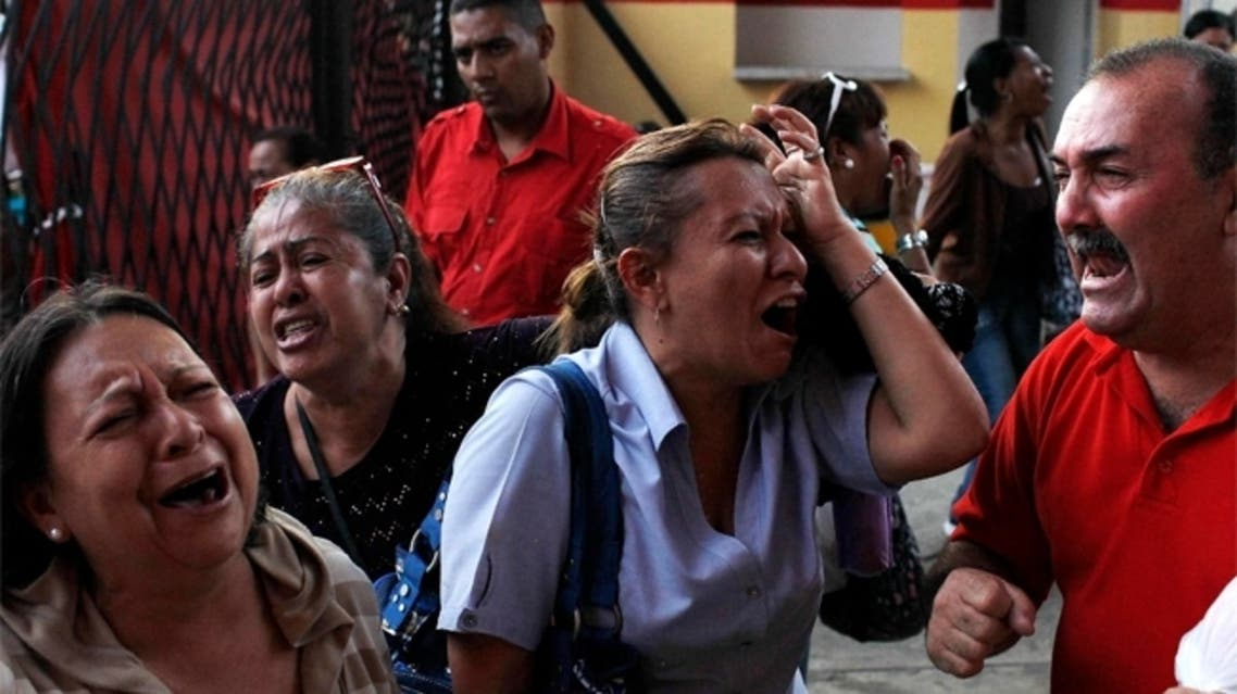 حزن الشعب الفنزويلي