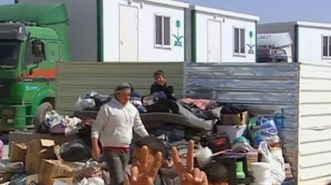 مساعدة السعودية للاجئين السوريين في مخيم الزعتري