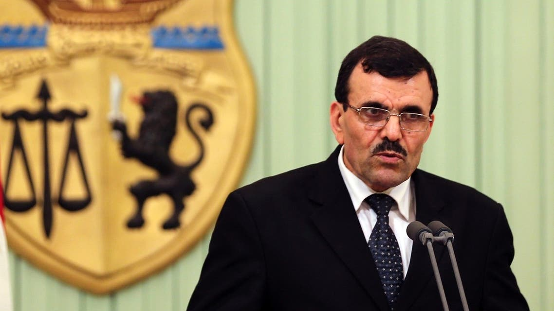 Tunisia's Prime Minister-designate Ali Larayedh speaks during a news conference after his meeting with Tunisia's President Moncef Marzouki (not seen) in Tunis March 7, 2013. (Reuters)