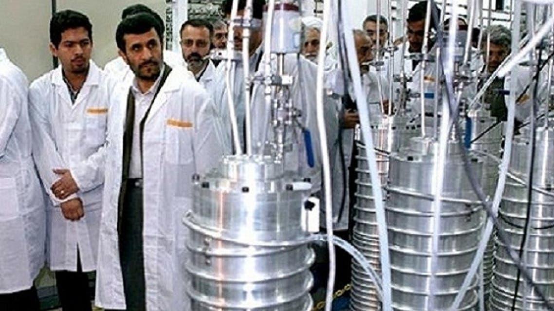 Iranian President Mahmoud Ahmadinejad visits the Natanz uranium enrichment facilities south of the capital Tehran, in April 2008. (AFP)