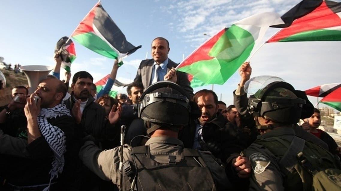 symbolic marriage palestinian israeli arab barrier prevention