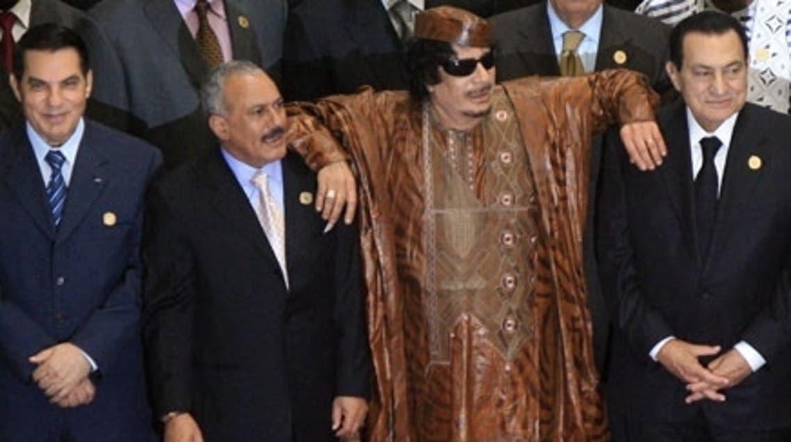 muammar qaddafi ali abduallah saleh hosni mubarak 2010 AFP