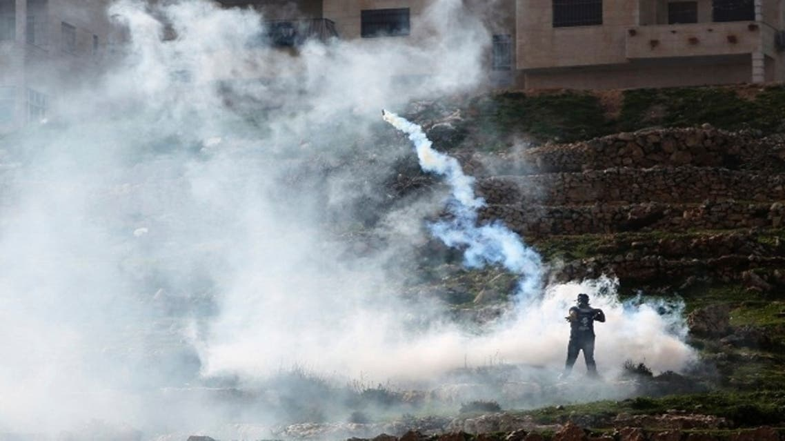 Clashes erupted between the Israeli military and Palestinian demonstrators on Friday (February 15) who were demonstrating in support with Palestinian prisoners held in Israeli jails. (Reuters)