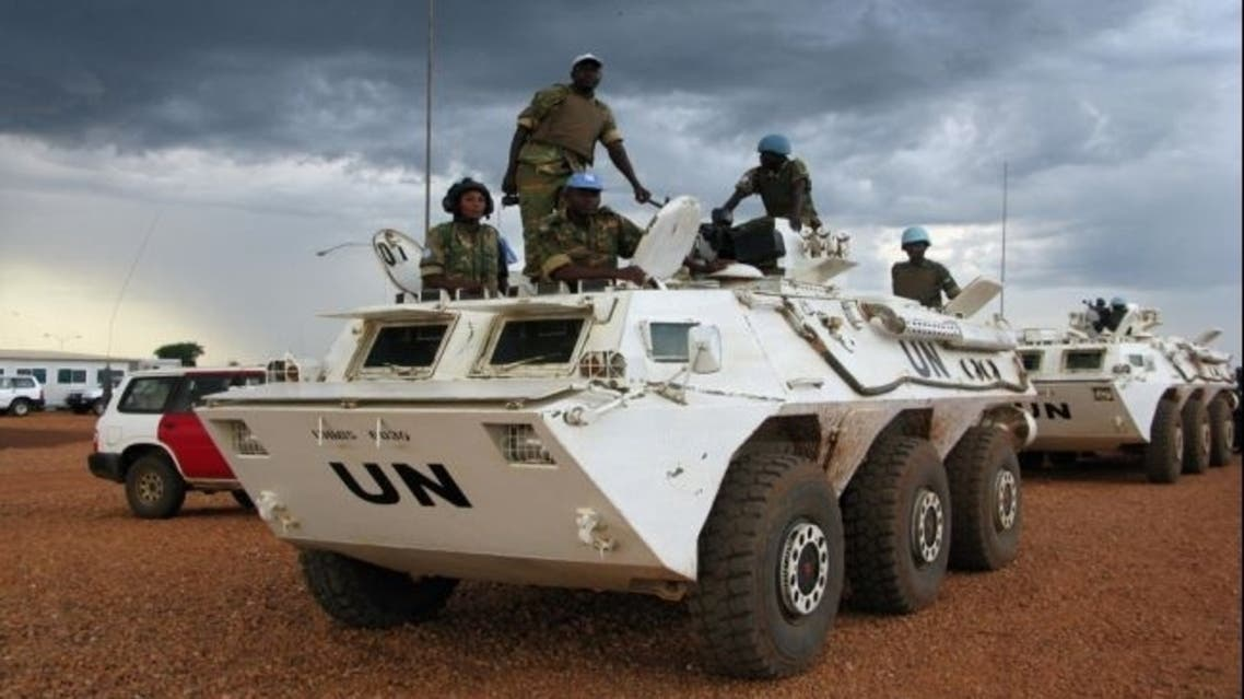Soldiers from the U.N. peacekeeping in the oil-rich Abyei, Sudan, in May 23, 2008. (AFP)