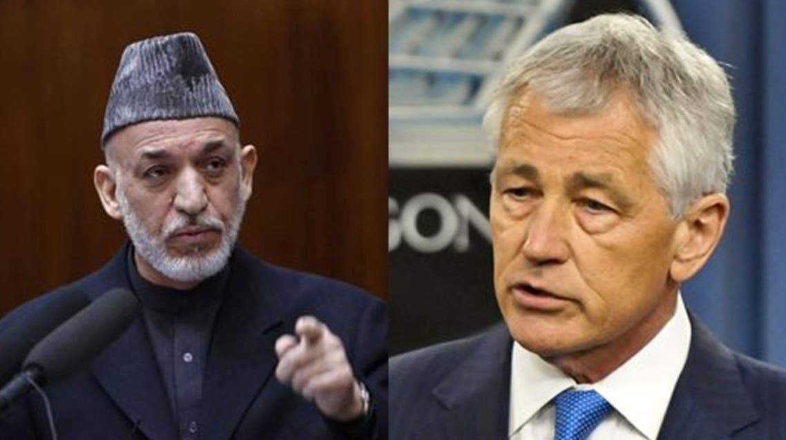 Karzai Chuck Afghanistan US