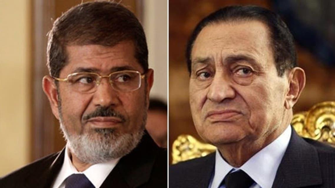حسني مبارك ومحمد مرسي
