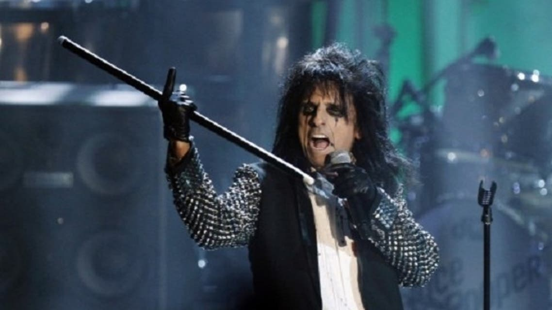 Legendary American rocker Alice Cooper is set to take part in the Omega Dubai Desert Classic Challenge Match in Dubai on Tuesday this week. (Reuters)