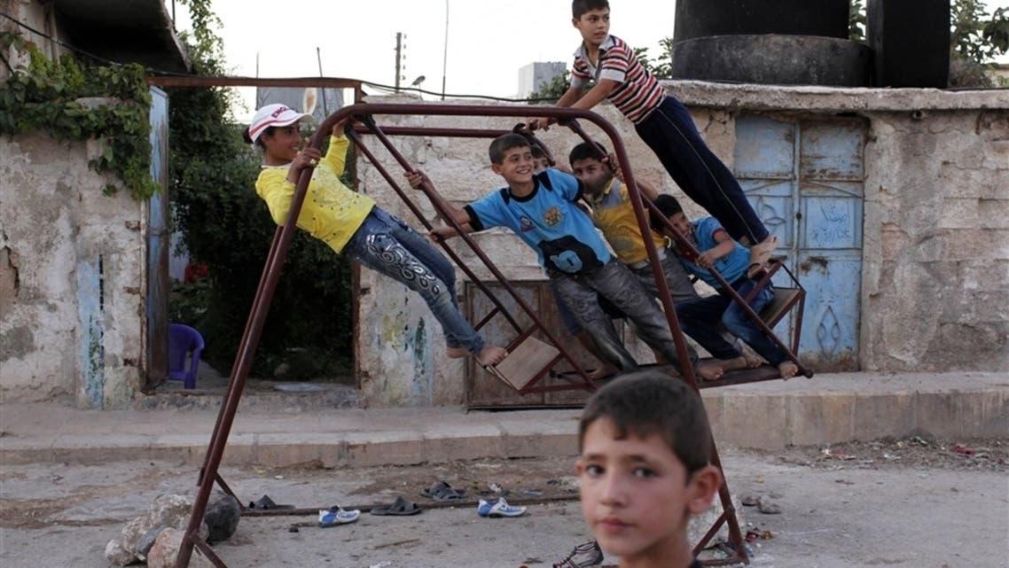 syria children suffering war battle conflict