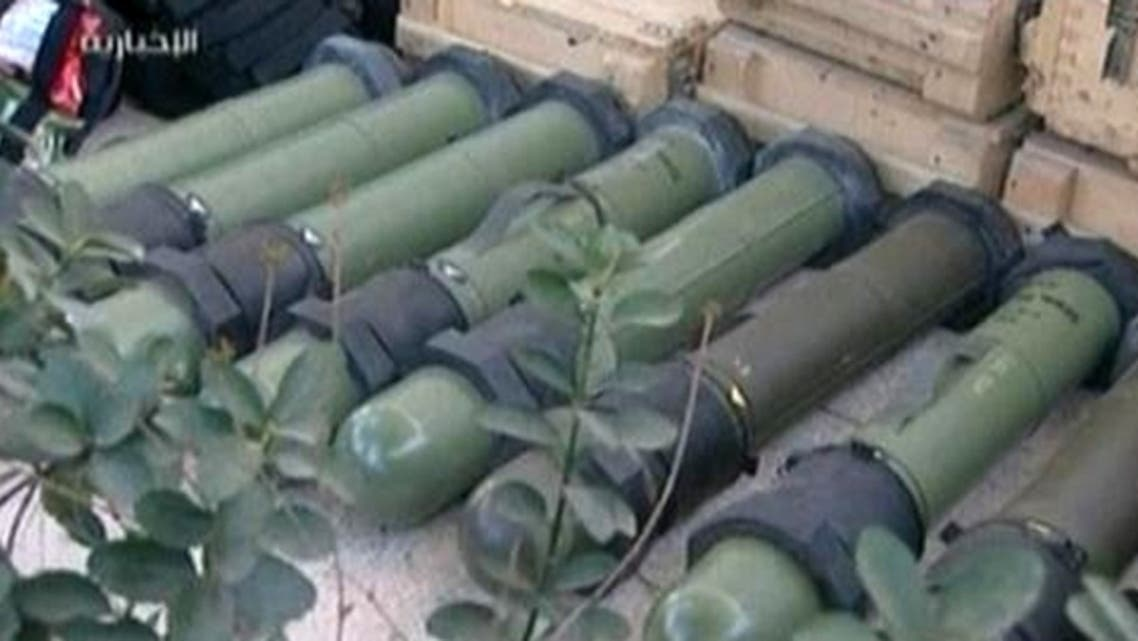 Syrian television station Ikhbariyah reports that the Syrian army captured a truck full of weapons headed to southern Damascus. (Reuters)