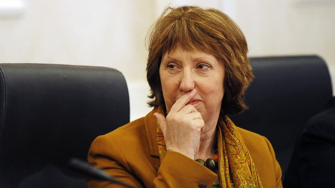 """EU foreign policy Chief Catherine Ashton said the EU needed to think """"very carefully"""" about French and British arguments that lifting the embargo would encourage Assad to negotiate. (AFP)"""