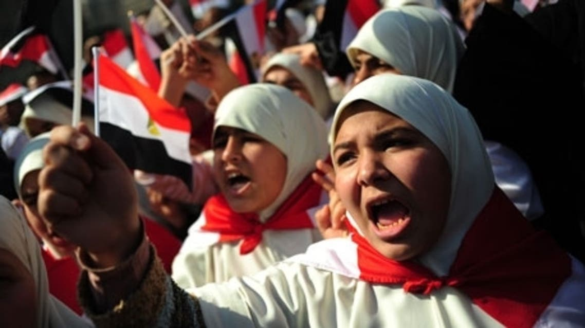 Egyptian women protesting in Tahrir Square in February. (AFP)