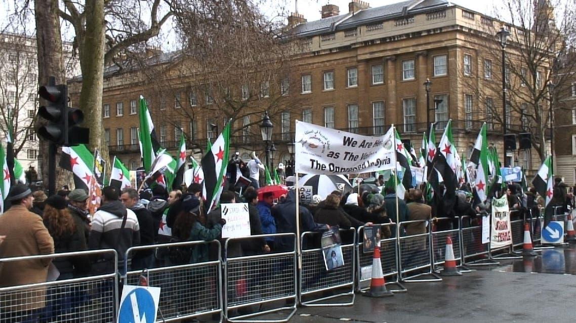 مسيرة واعتصام في لندن دعماً للثورة السورية