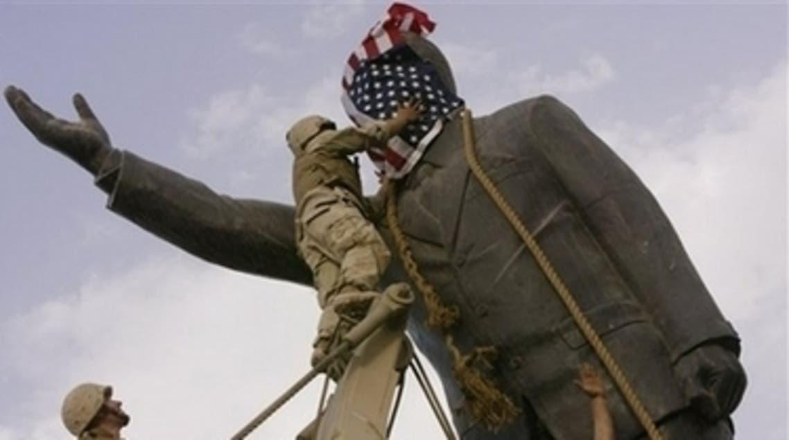 تمثال صدام