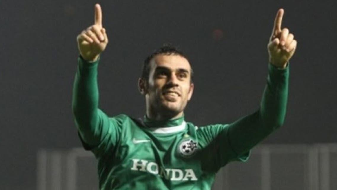 Football player Wiam Amasha currently plays with the Israeli team Maccabi Haifa.(Courtesy of haaretz.com)