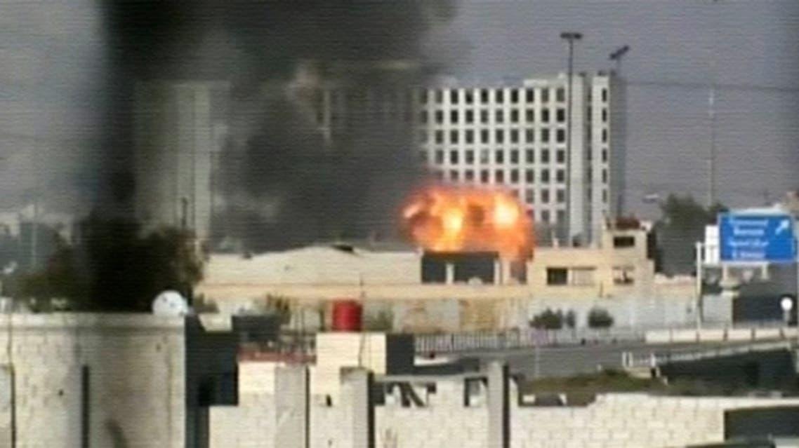 استهداف مقر المخابرات الجوية في حرستا