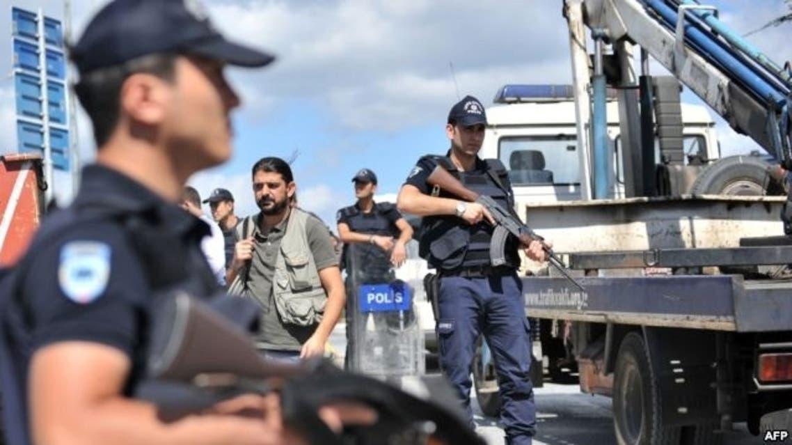 الشرطة التركية بعد انفجار في إسطنبول