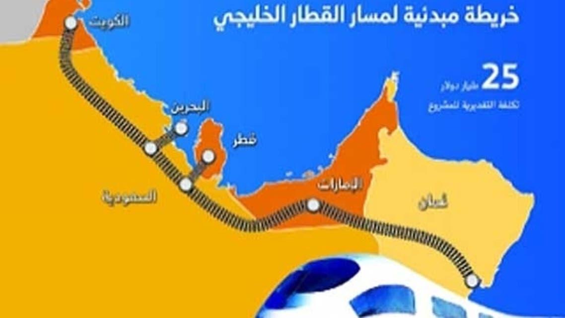 سكة القطار الخليجي
