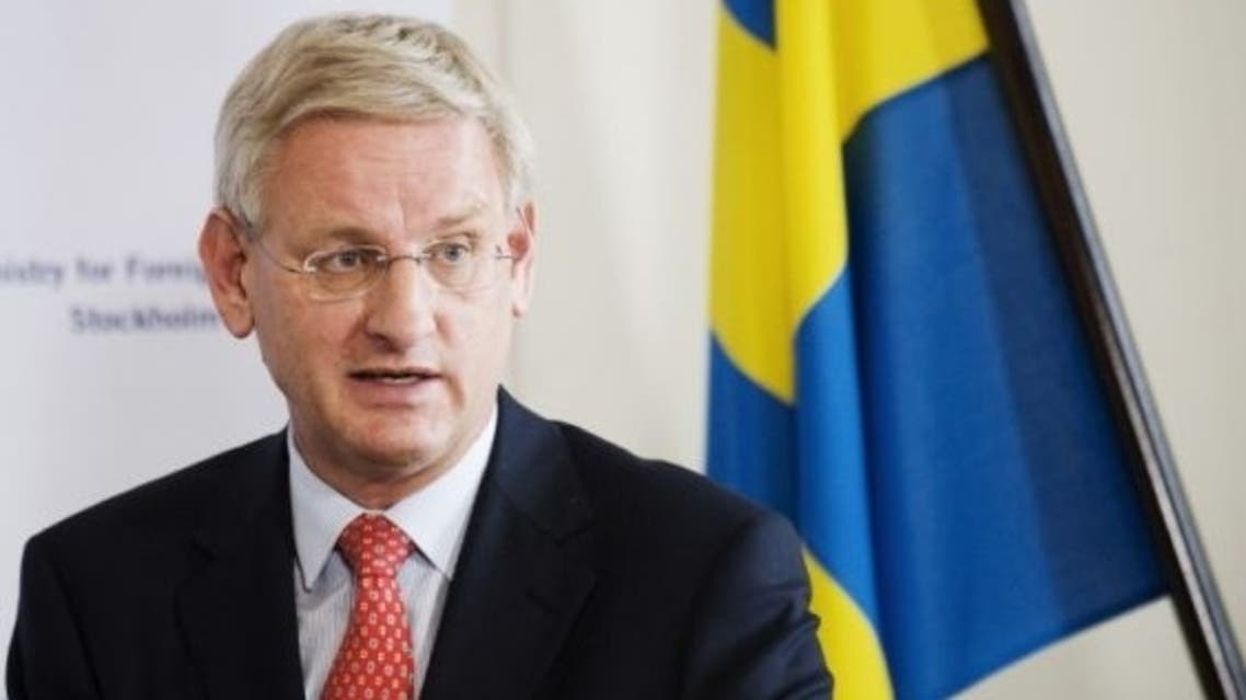 Swedish Foreign Minister Carl Bildt meanwhile said funneling weapons to Syria's insurgents as suggested by London and Paris would only fan the conflict and undermine efforts to seek a negotia