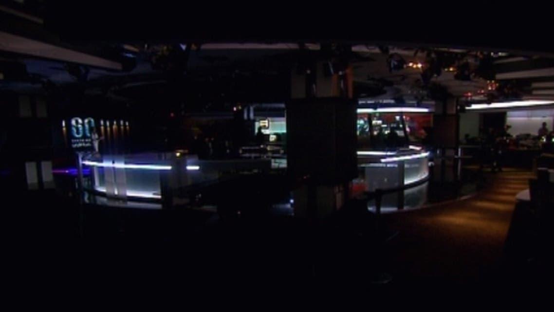غرفة الأخبار في القناة العربية في ساعة الأرض
