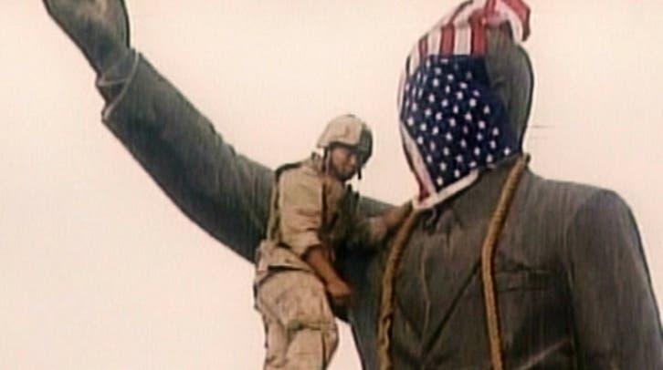سر الاتصال الذي أدى لإنزال علم أمريكا من رأس تمثال صدام