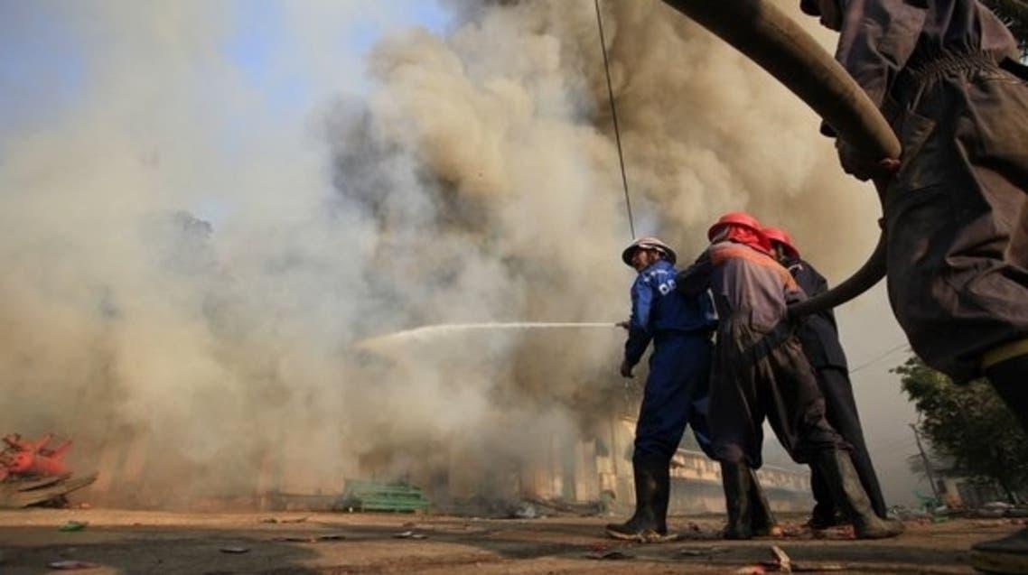 Myanmar fire