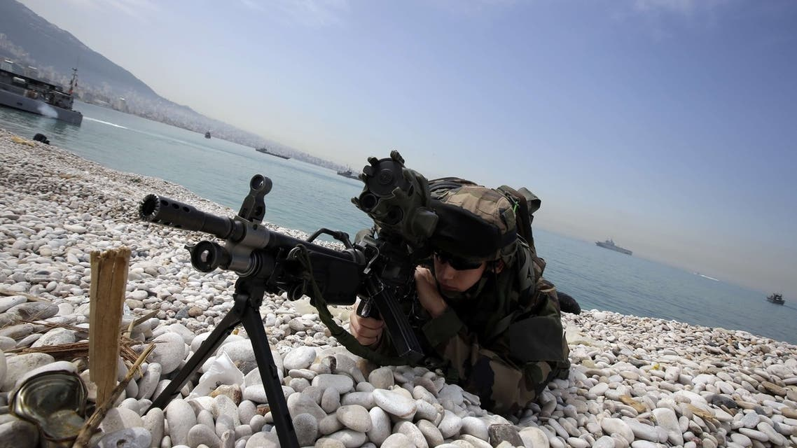 Lebanese and French armies partake in war games