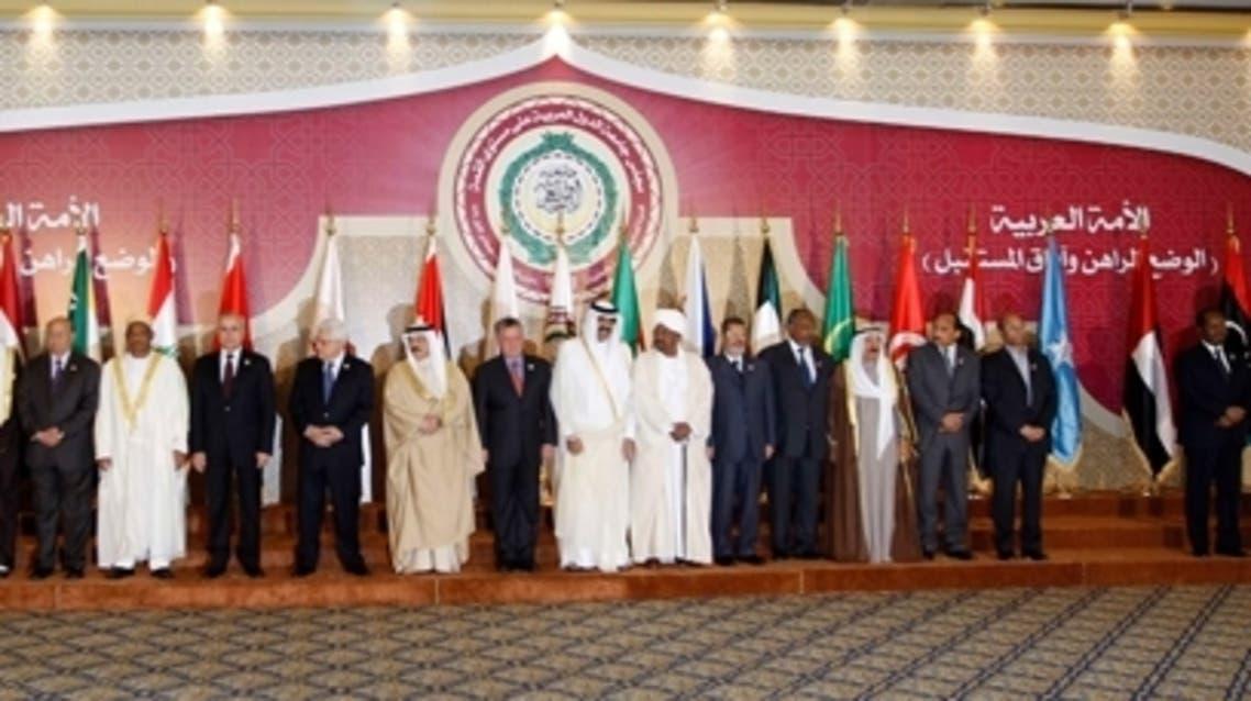 القادة العرب في صورة جماعية في القمة العربية في قطر